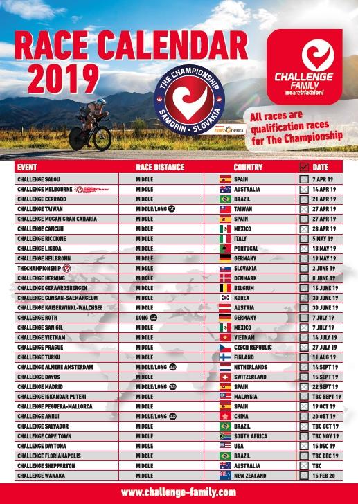 Race Calendar.Challenge Race Calendar 2019 Challenge Cancun